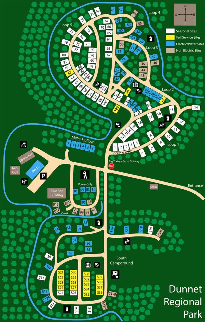 Dunnet Park Map